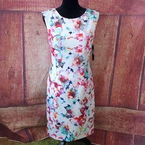 Tahari watercolor floral sleeveless NWT Dress